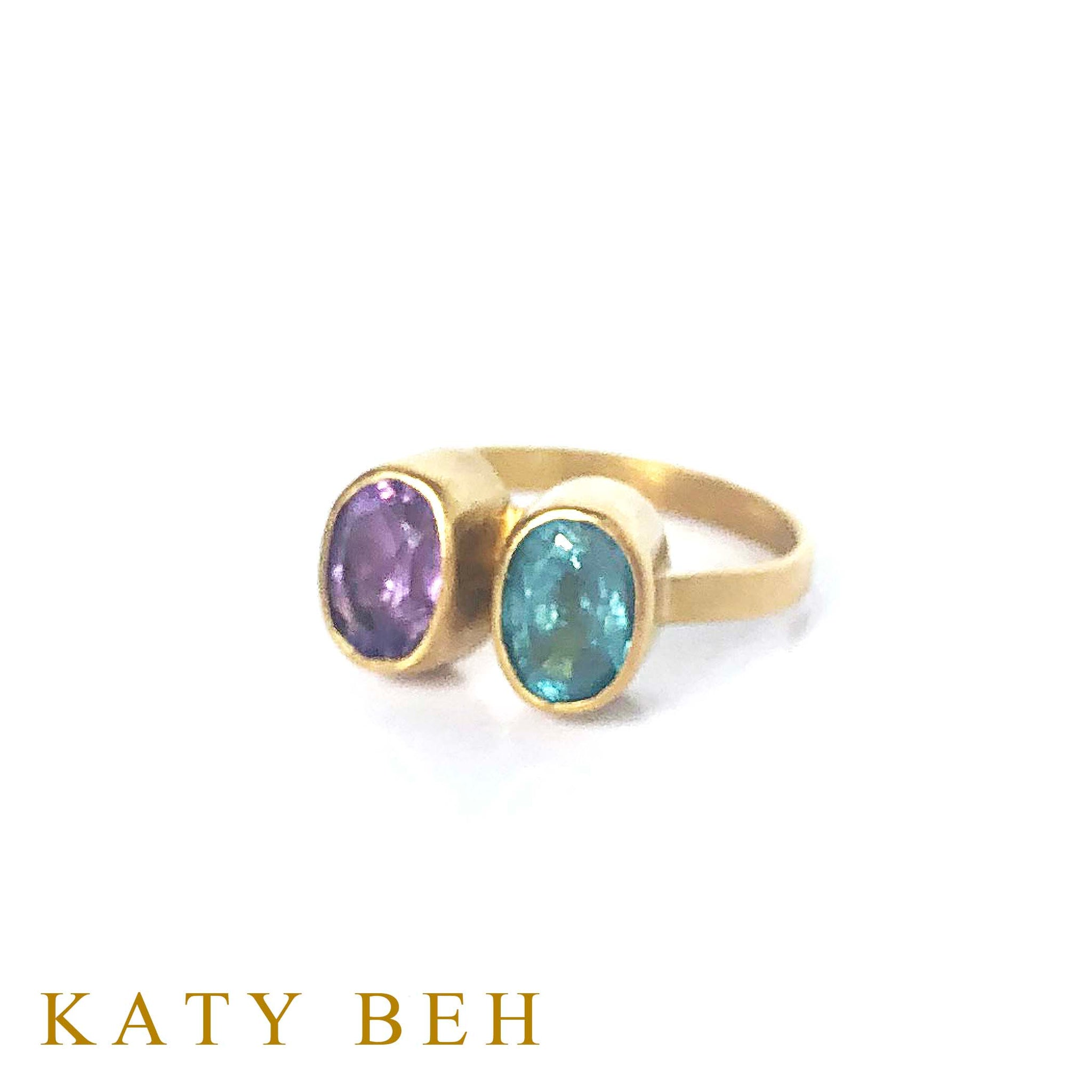 Danna Amethyst and Apatite Ring
