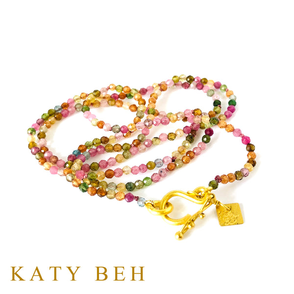 Daria Watermelon Multi Colored Tourmaline Necklace