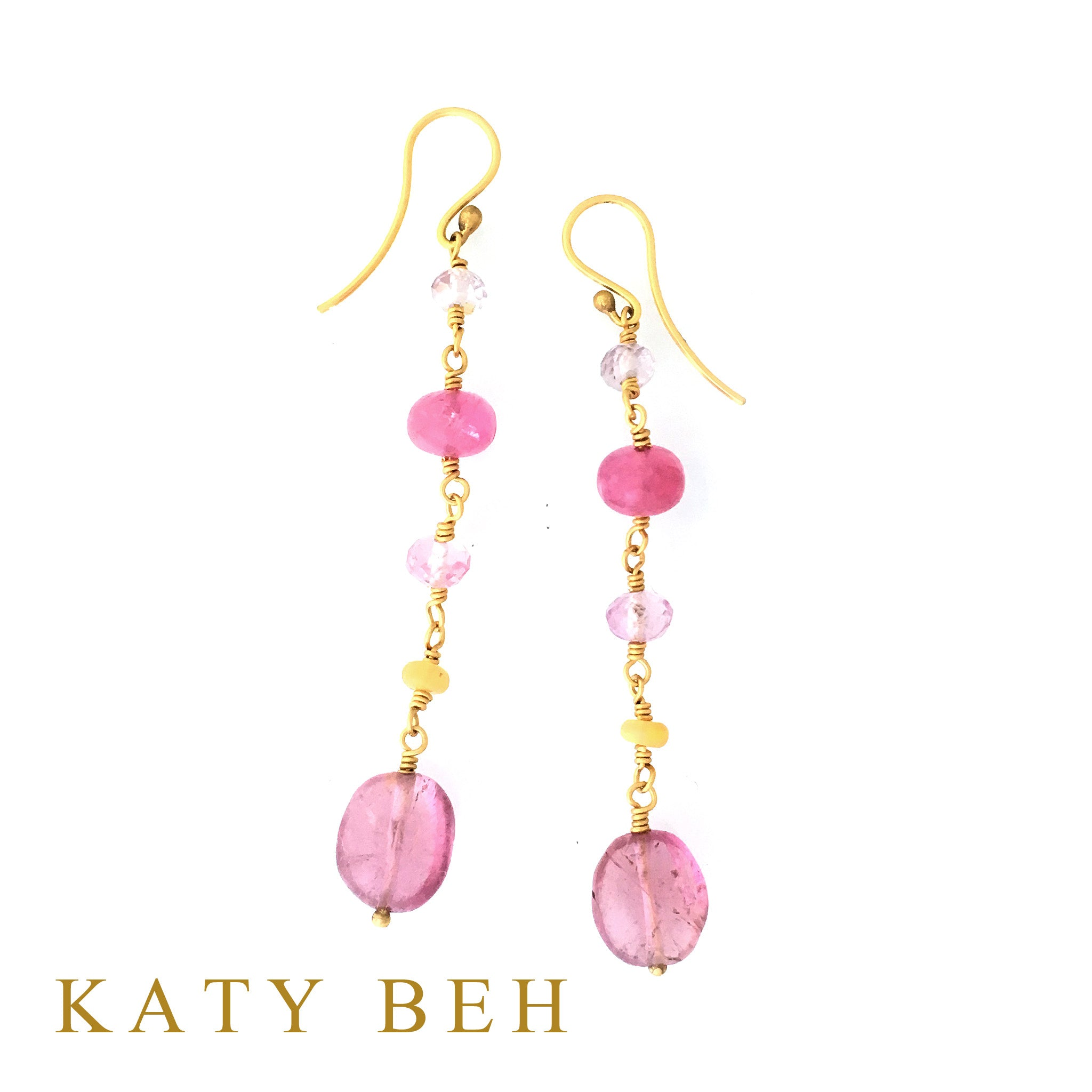 Doe Pink Tourmaline & Gemstone Mix Earrings