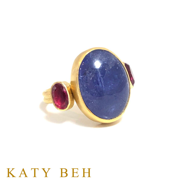 Georgie Tanzanite and Rubellite Ring