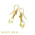 Geraldine Cognac Diamond and Yellow Aquamarine Earrings