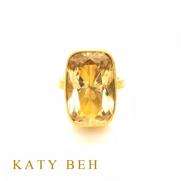 Giselle Citrine Ring