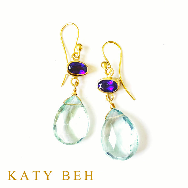 Janice Amethyst and Fluorite Earrings