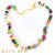 Jolly Rancher Fancy Tourmaline Quartz and Golden Pyrite Necklace