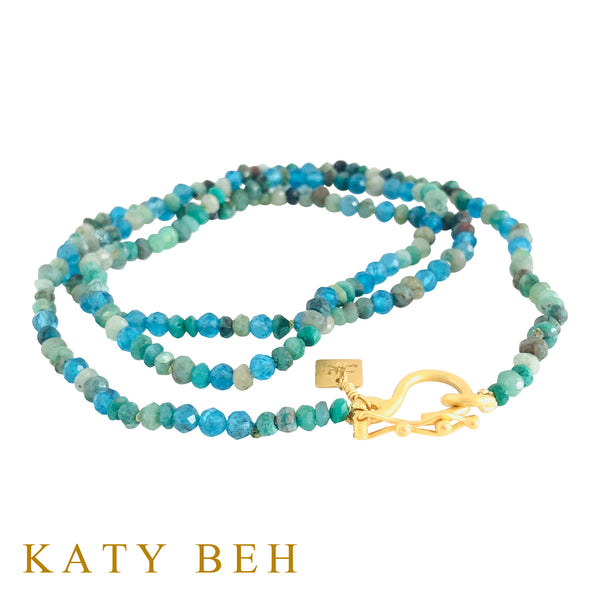 Kaitlyn Chrysocolla & Apatite Necklace