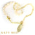 Kathy White Pearl and Lemon Quartz Necklace