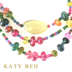 Kensi Ruby, Tanzanite and Chrome Diopside Necklace