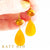 Lindsay Mexican Fire Opal and Orange Calcite Earrings