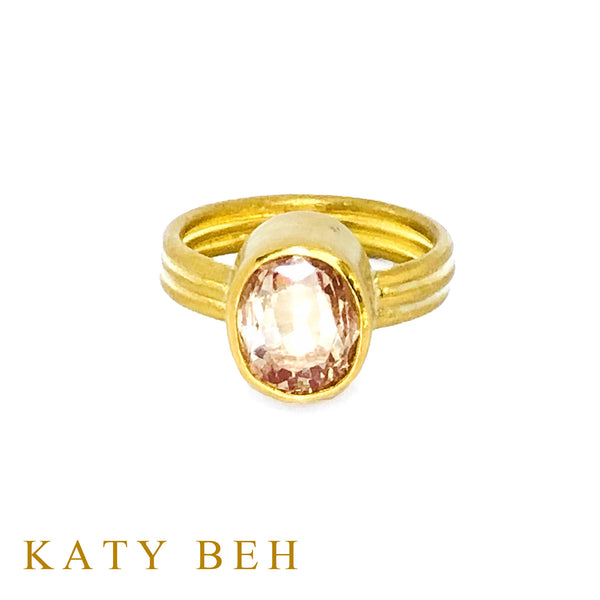 Louise Peach Padparadscha Sapphire Ring