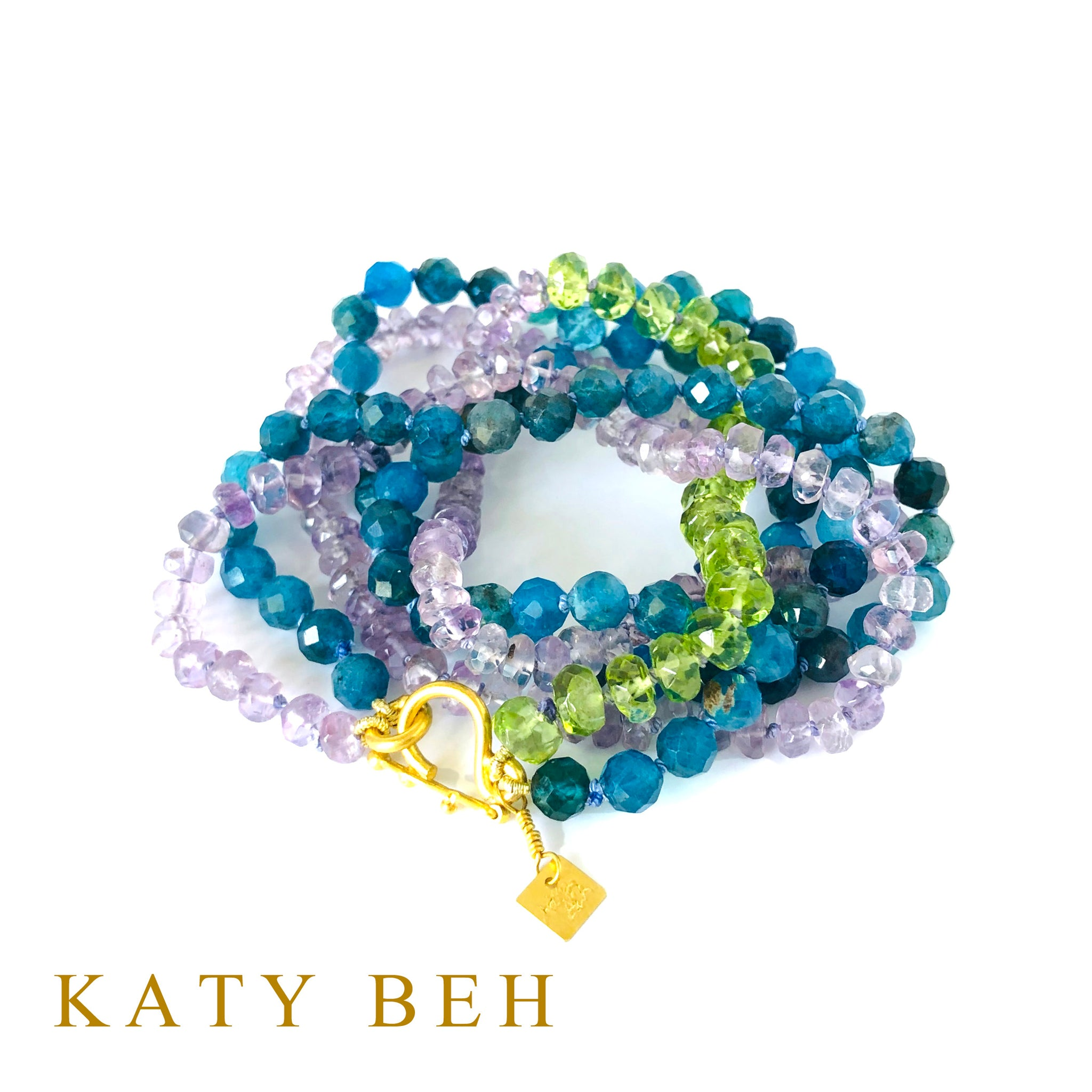 Lucy Apatite, Amethyst and Peridot Necklace