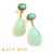 Maeve Turquoise and Peruvian Chalcedony Earrings