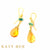 Margaret Apatite and Citrine Earrings