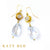 Melanie White Topaz & Clear Quartz Earrings
