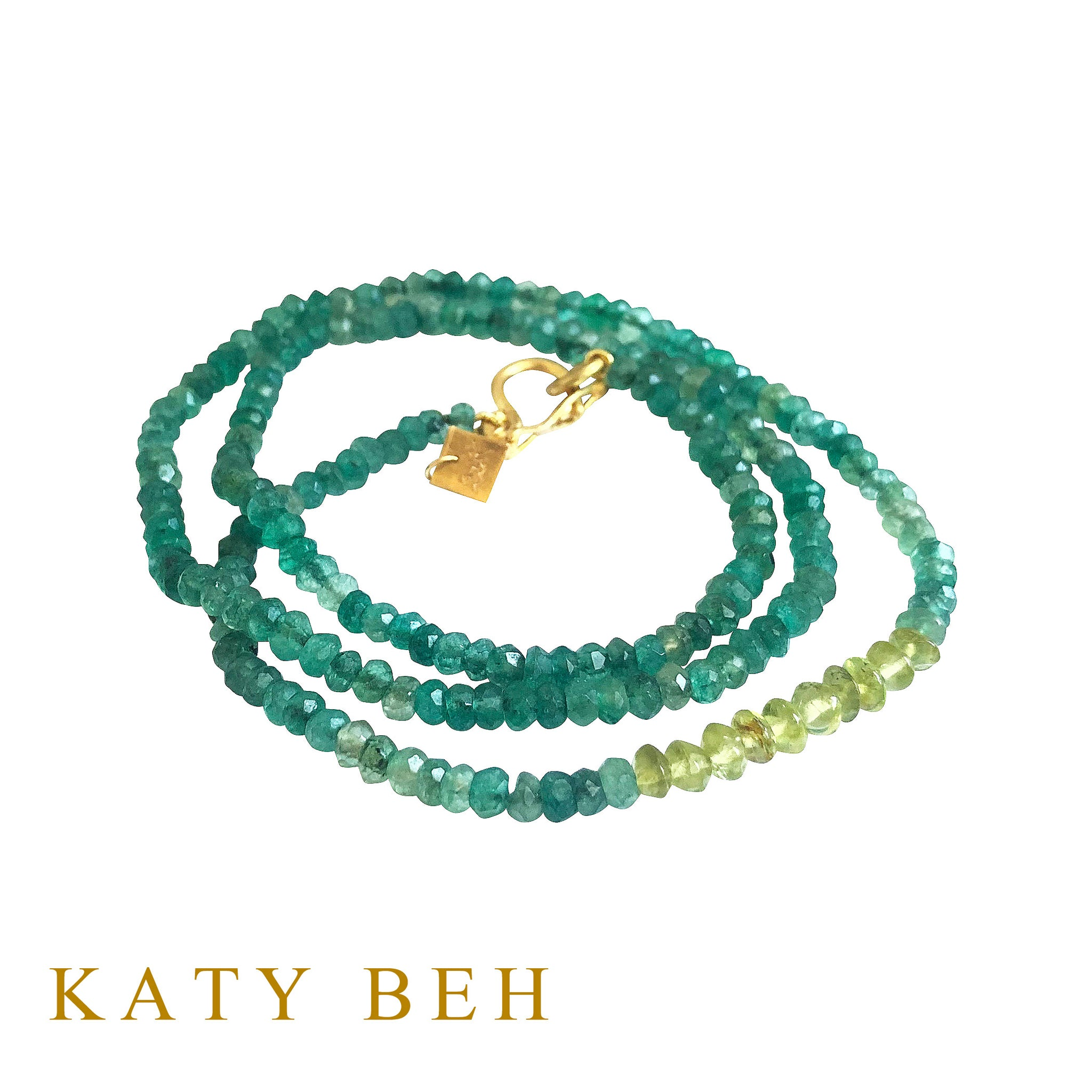 Mercedes Emerald Onyx and Peridot Necklace