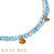 Millicent Blue Topaz and Orange Sapphire Necklace