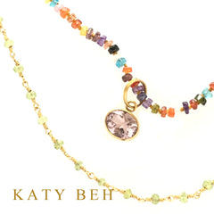 Monica Fancy Rainbow Zircon Necklace