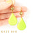 Odile Lemon-Lime Quartz and Natural Gaspeite Earrings