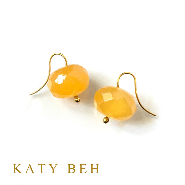 Orange Calcite Earrings