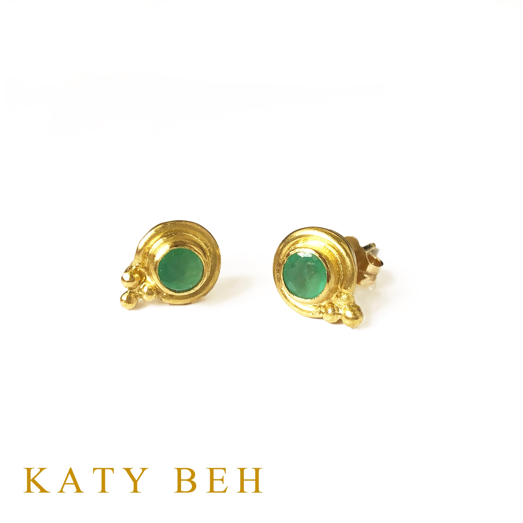 Phoebe Emerald Stud Earrings