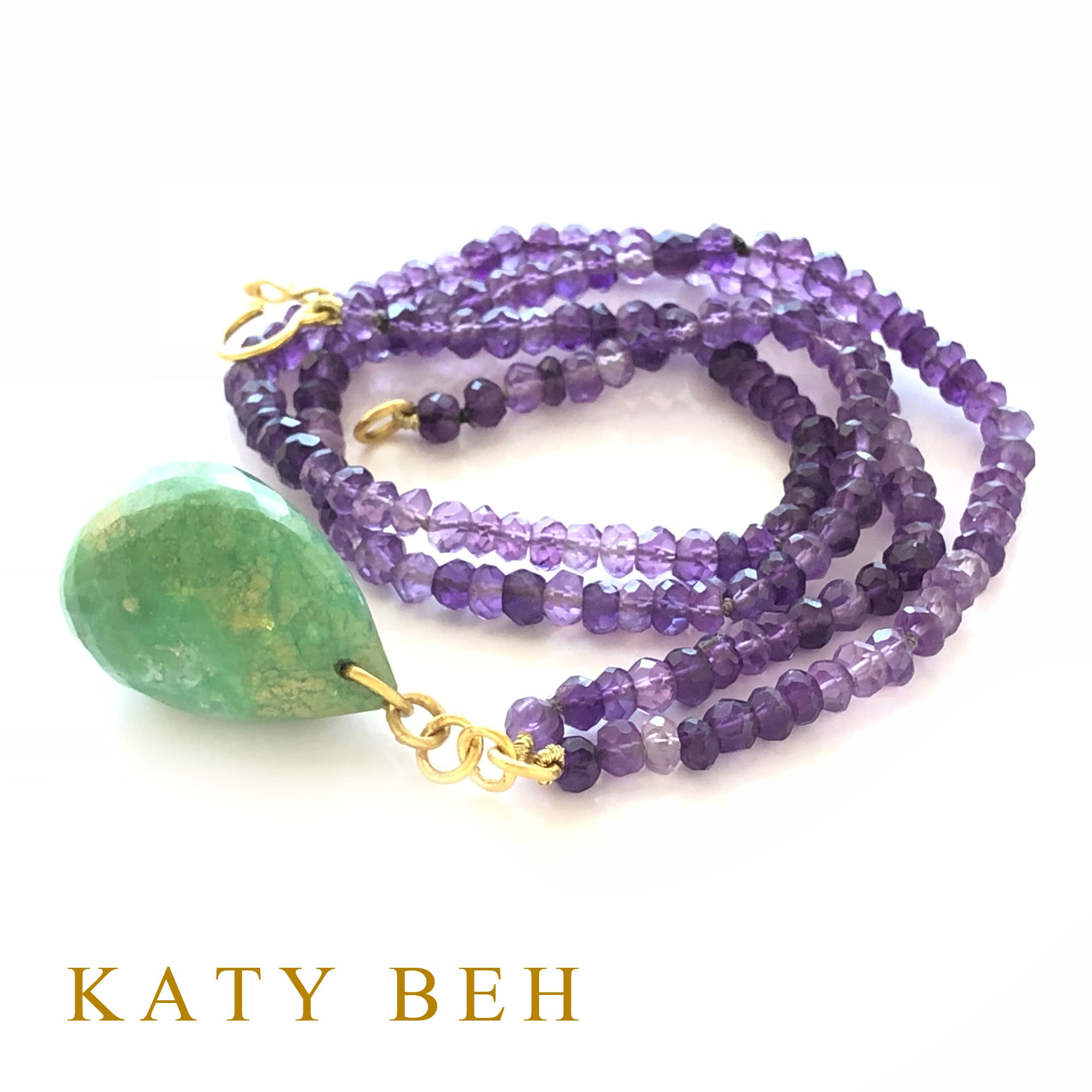 Valeria Amethyst and Chrysoprase Necklace