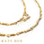 22k Yellow Gold Wrapped Link Chain Necklace