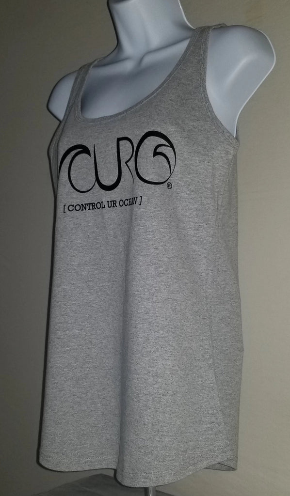 Gray Tank Top Black CURO