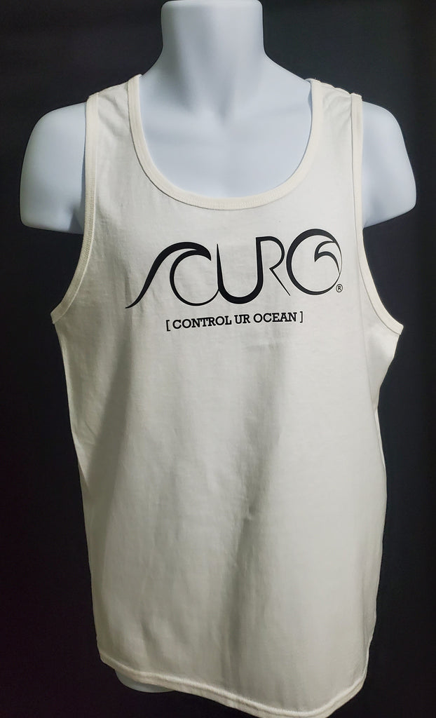 CURO White Tank Top With Black CURO