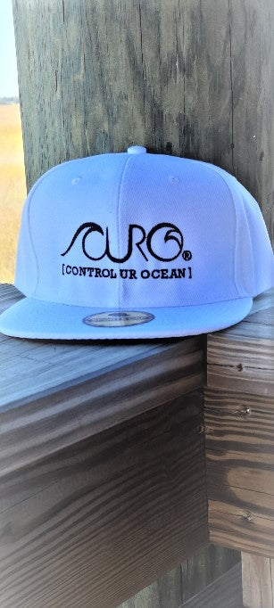CURO White & Black Snap Back Hat