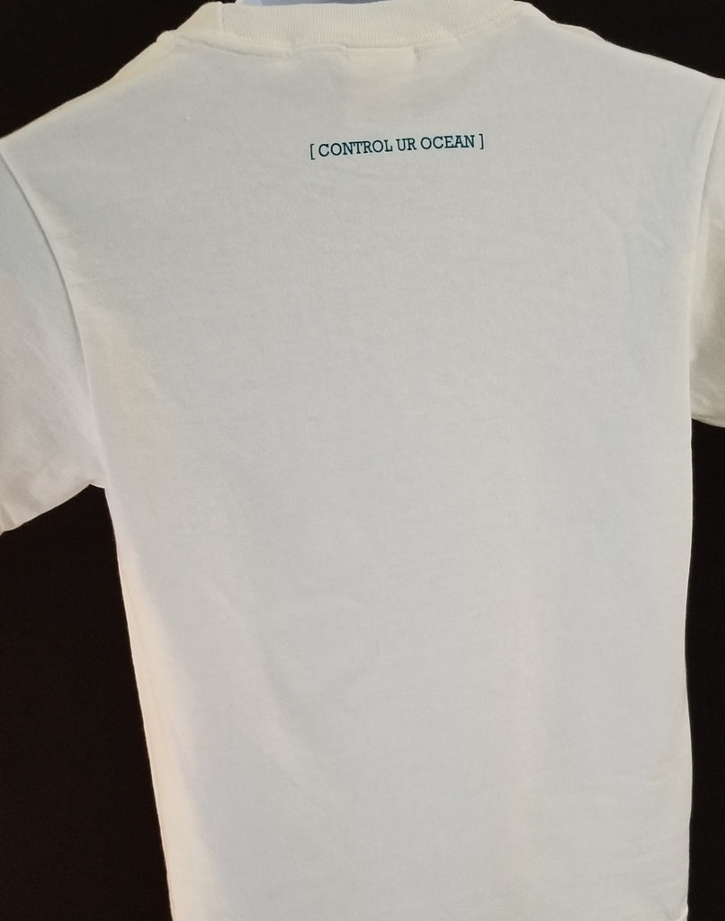 CURO White Youth T-Shirt With Teal Florida CURO