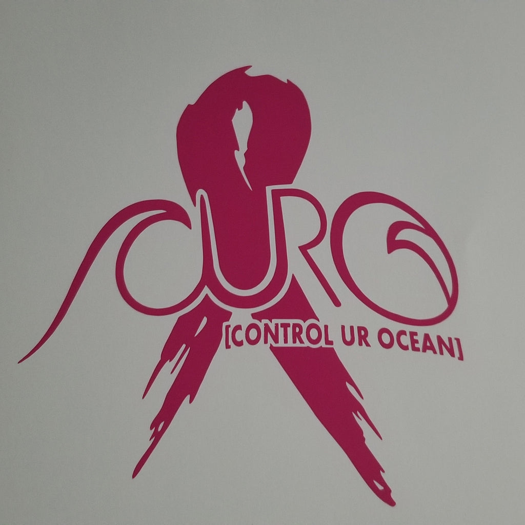Breast Cancer Awareness Pink Ribbon With CURO [CONTROL UR OCEAN]