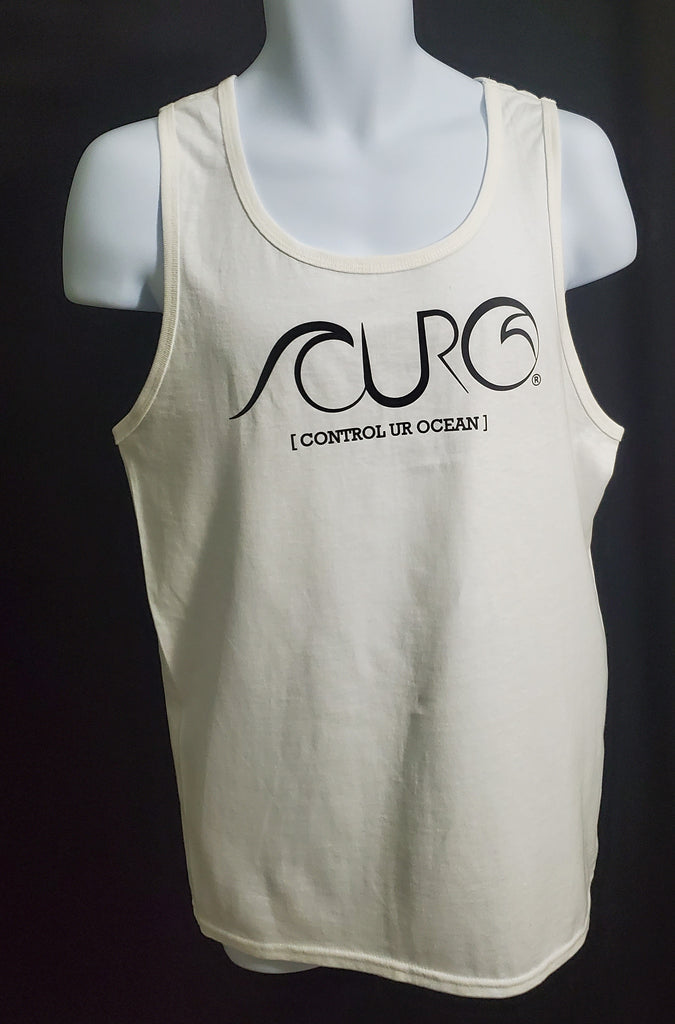 White Tank Top With Black CURO