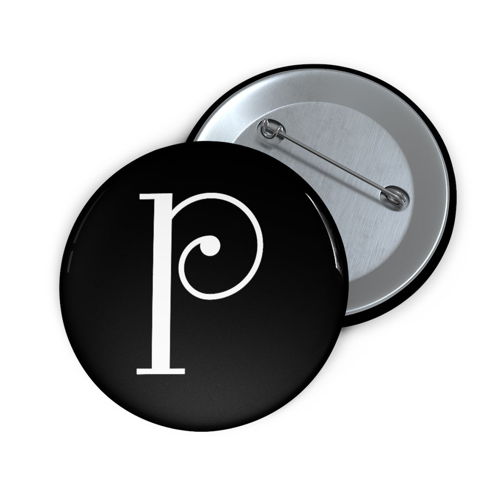 """P"" Logo Button–Black"