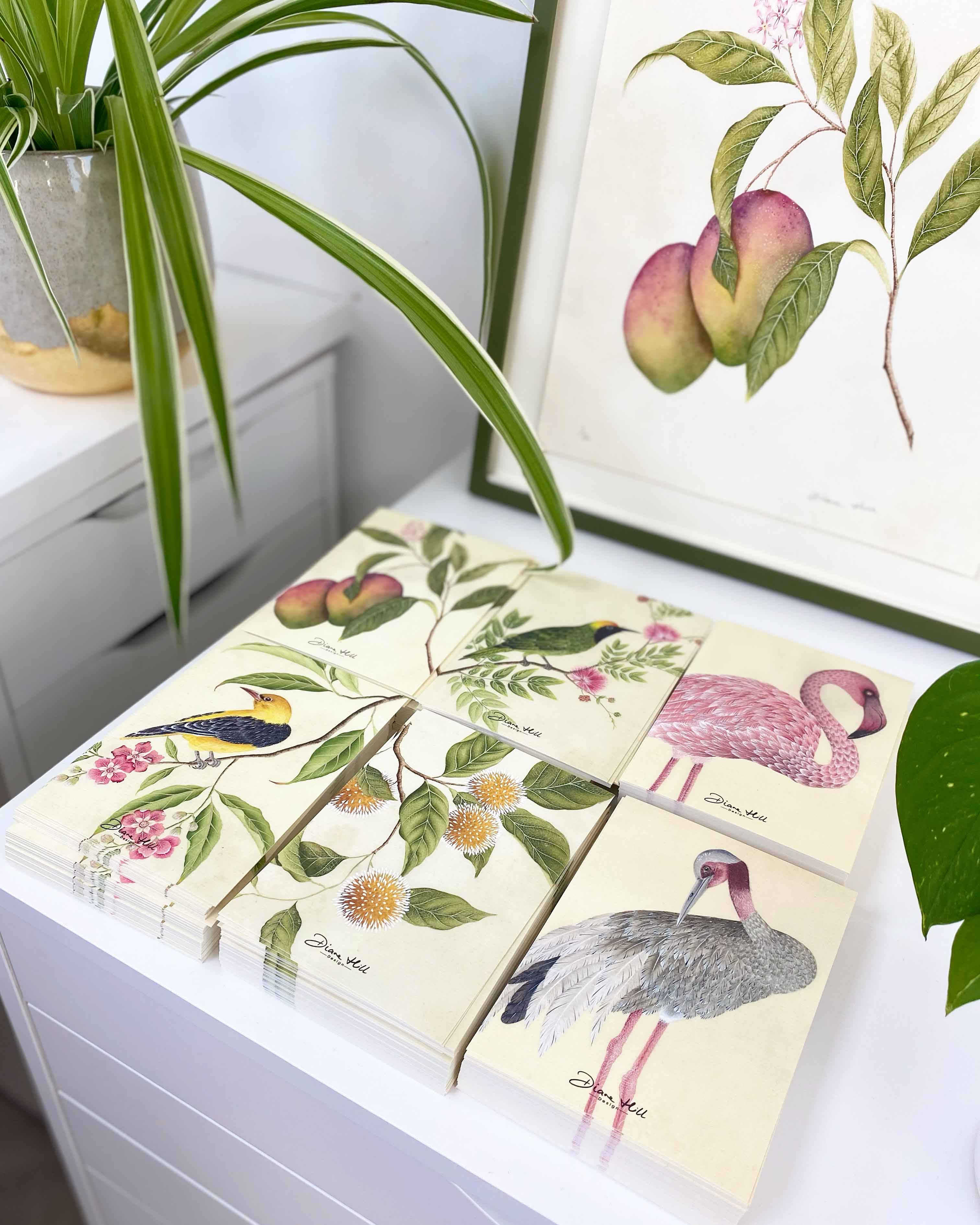 Botanical collection by Diane Hill complete prints