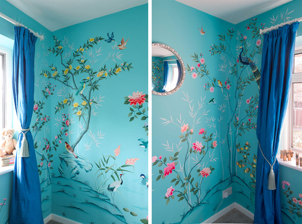 Chinoiserie nursery by Diane Hill