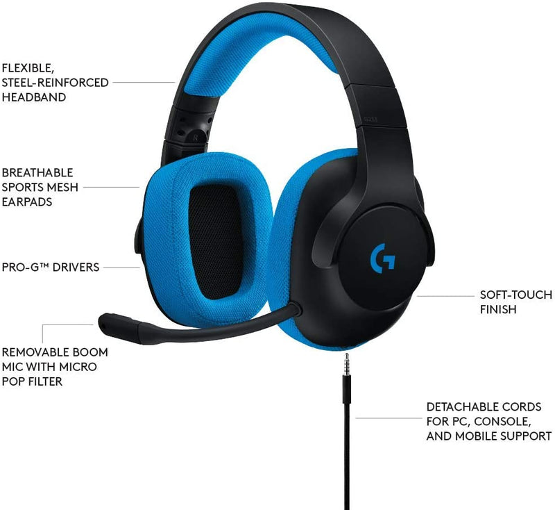 Logitech G233 Prodigy Gaming Headset for PC, PS4, Xbox One, Nintendo Switch