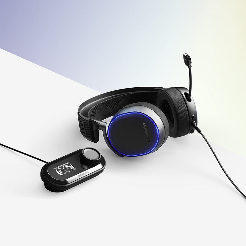 SteelSeries Arctis Pro + GameDAC Wired Gaming Headset - Certified Hi-Res Audio - Dedicated DAC and Amp - for PS4 and PC