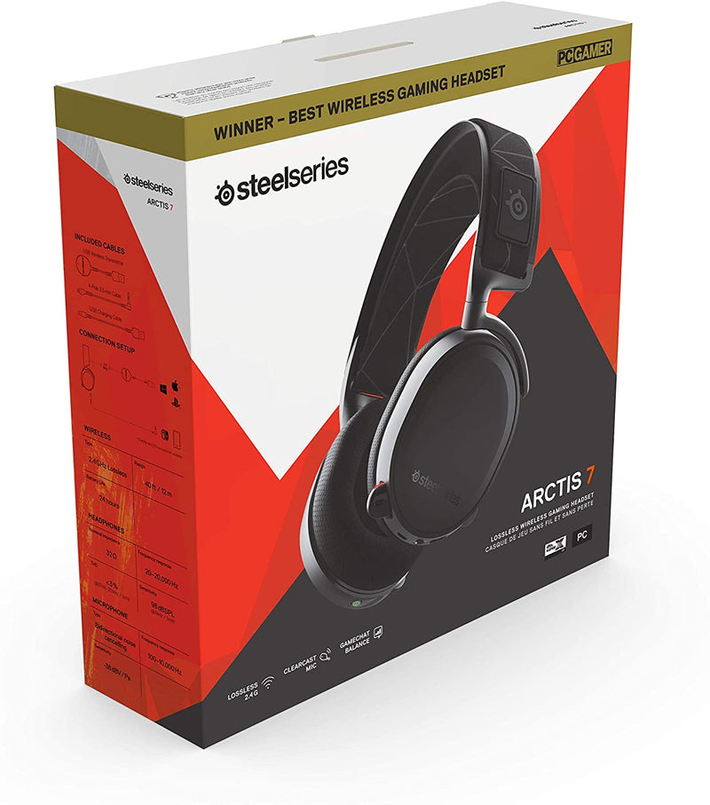 SteelSeries Arctis 7 - Lossless Wireless Gaming Headset with DTS Headphone