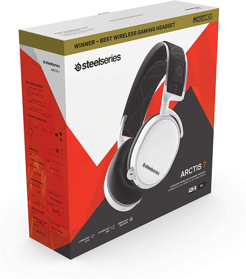 SteelSeries Arctis Pro Wireless Gaming Headset -Wireless Plus Bluetooth for PS4 and PC