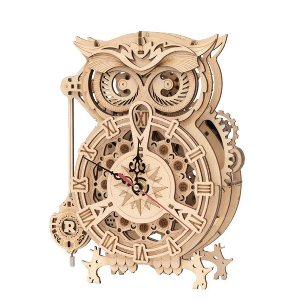 Reloj Buho Puzzle 3D de Madera - Owl Clock - Playmore Toys