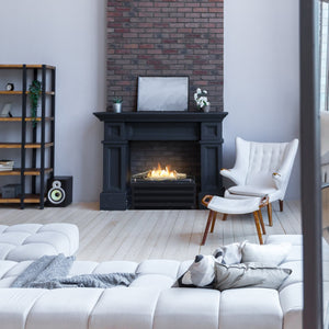 Basket Fire Logs Freestanding Ethanol Fireplace - A solution for any existing hearth (4432831610922)