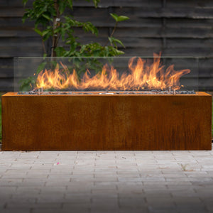 Load image into Gallery viewer, Galio Corten Manual Outdoor Gas Fireplace (4470632742954)