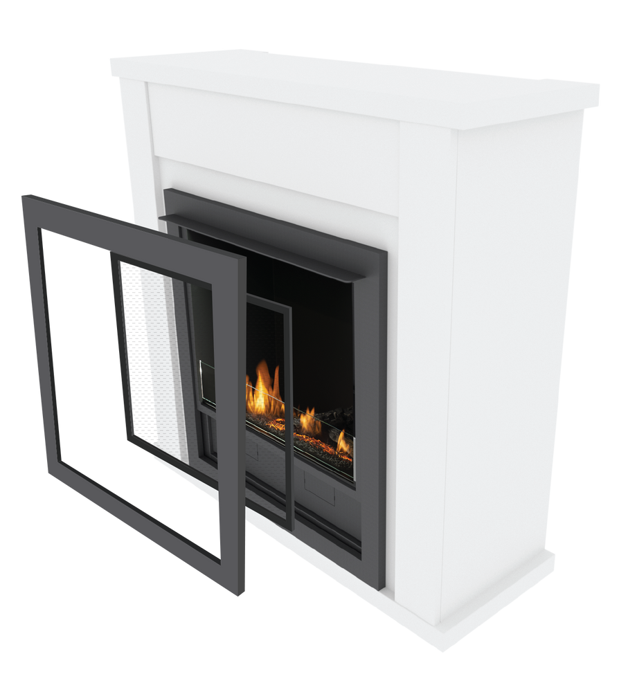 Lincoln Freestanding Ethanol Fireplace - An easy off the shelf solution