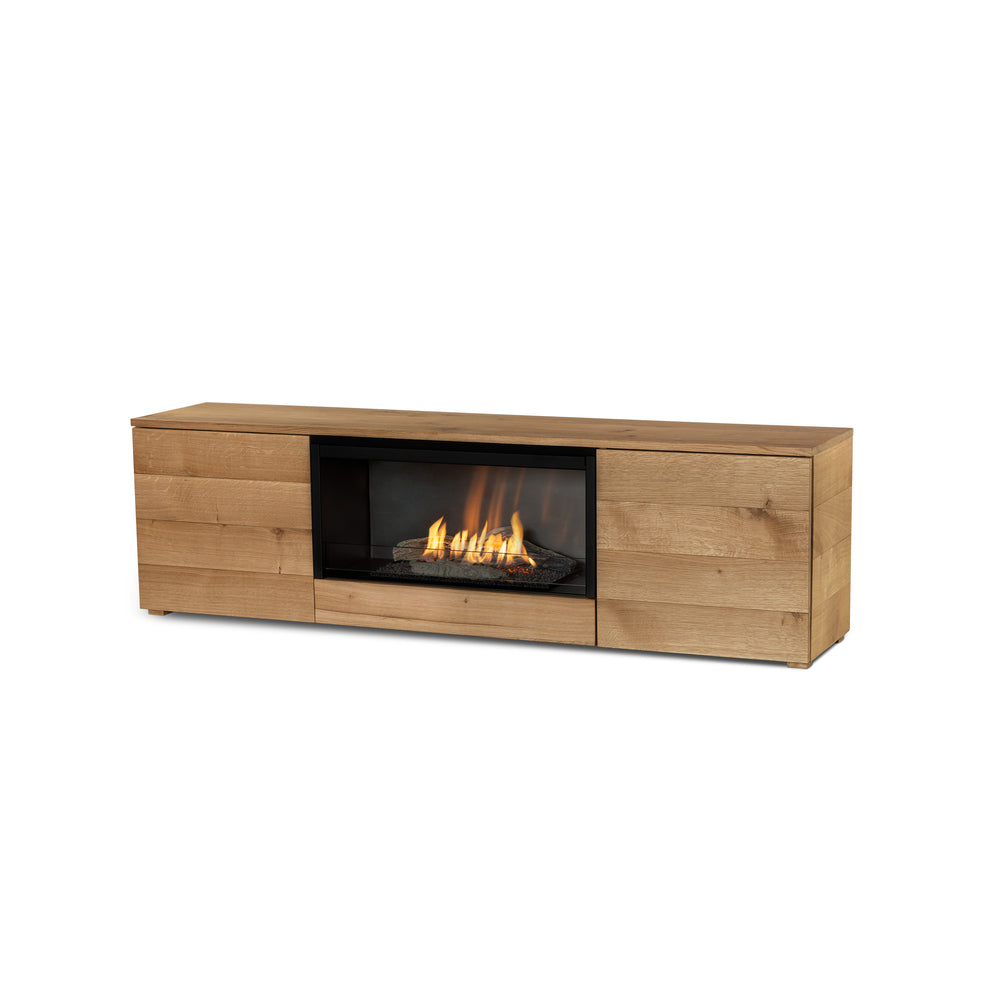 Pure Flame TV Box Freestanding Ethanol Fireplace in Oak (4629893513258)