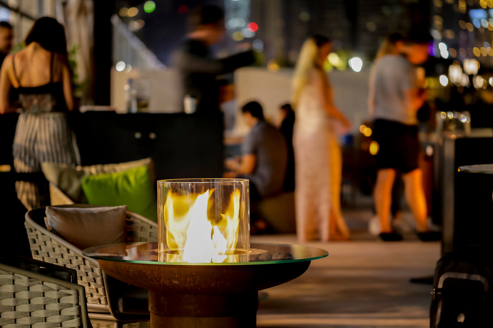 Load image into Gallery viewer, TONDO an eye catching bioethanol fire pit- A must have for any garden! (4422668746794)