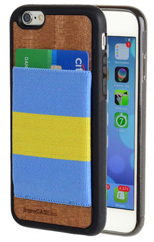 Blue and Gold iPhone wallet case