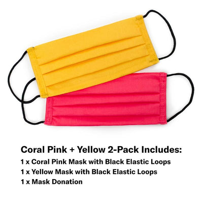Coral Pink and Yellow
