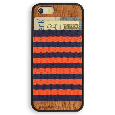 Orange and Navy Blue Stripe