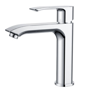 Kodean- F11125 Single Handle, Chrome Bathroom Faucet - Construction Commodities Supply Inc.