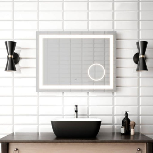 "Effect- 32""x24"" LED Mirror With Magnifying Mirror  LED Mirror"