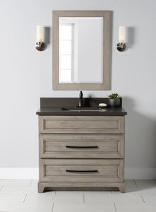 "StoneWood- 30"" Bathroom Vanity With Quartz Countertop"